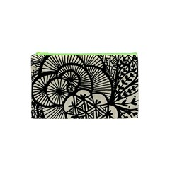 Background Abstract Beige Black Cosmetic Bag (xs) by Celenk