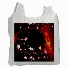 Circle Lines Wave Star Abstract Recycle Bag (one Side) by Celenk