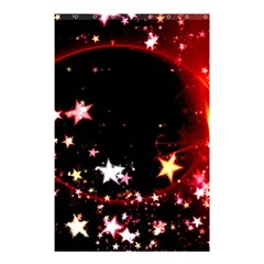 Circle Lines Wave Star Abstract Shower Curtain 48  X 72  (small)  by Celenk