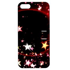 Circle Lines Wave Star Abstract Apple Iphone 5 Hardshell Case With Stand by Celenk
