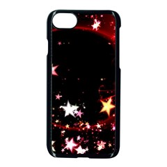 Circle Lines Wave Star Abstract Apple Iphone 8 Seamless Case (black) by Celenk