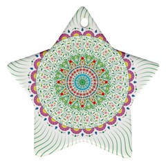 Flower Abstract Floral Star Ornament (two Sides) by Celenk