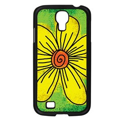Flower Cartoon Painting Painted Samsung Galaxy S4 I9500/ I9505 Case (black) by Celenk