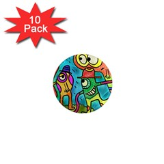 Painting Painted Ink Cartoon 1  Mini Magnet (10 Pack)  by Celenk