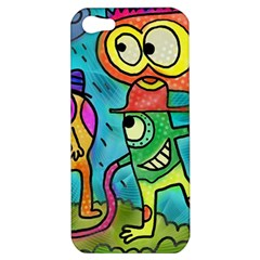 Painting Painted Ink Cartoon Apple Iphone 5 Hardshell Case by Celenk