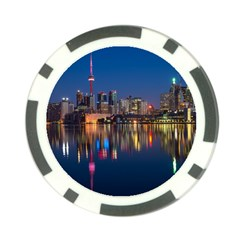 Buildings Can Cn Tower Canada Poker Chip Card Guard (10 Pack) by Celenk