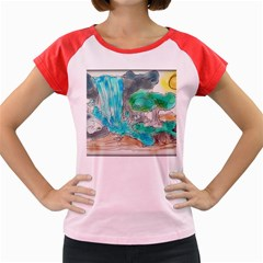 Doodle Sketch Drawing Landscape Women s Cap Sleeve T Shirt by Celenk