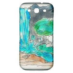 Doodle Sketch Drawing Landscape Samsung Galaxy S3 S Iii Classic Hardshell Back Case by Celenk