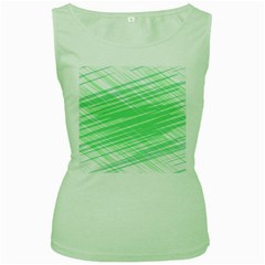 Dirty Dirt Structure Texture Women s Green Tank Top by Celenk