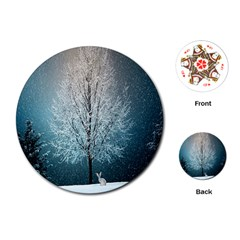 Winter Wintry Snow Snow Landscape Playing Cards (round)