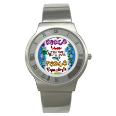 Christian Christianity Religion Stainless Steel Watch by Celenk