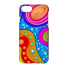 Abstract Pattern Painting Shapes Apple Iphone 8 Hardshell Case by Celenk