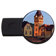 Blue Hour Colliery House Usb Flash Drive Round (2 Gb) by Celenk