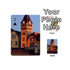 Blue Hour Colliery House Playing Cards 54 (mini)  by Celenk
