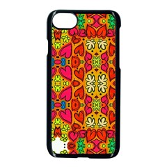 Abstract Background Pattern Doodle Apple Iphone 8 Seamless Case (black) by Celenk