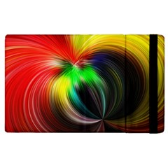Circle Lines Wave Star Abstract Apple Ipad 2 Flip Case by Celenk
