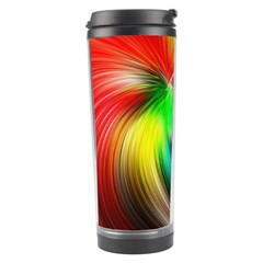 Circle Lines Wave Star Abstract Travel Tumbler by Celenk