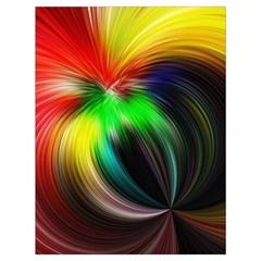 Circle Lines Wave Star Abstract Drawstring Bag (large)