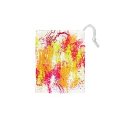 Painting Spray Brush Paint Drawstring Pouches (xs)  by Celenk