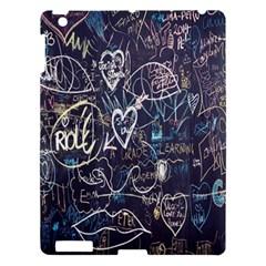 Graffiti Chalkboard Blackboard Love Apple Ipad 3/4 Hardshell Case by Celenk