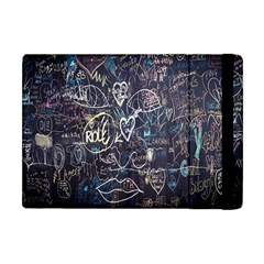 Graffiti Chalkboard Blackboard Love Apple Ipad Mini Flip Case by Celenk