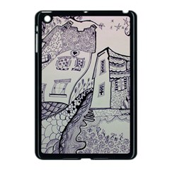 Doodle Drawing Texture Style Apple Ipad Mini Case (black) by Celenk