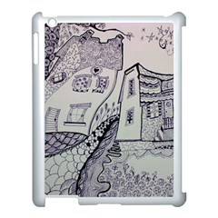Doodle Drawing Texture Style Apple Ipad 3/4 Case (white) by Celenk