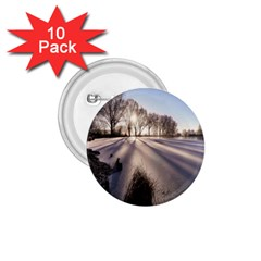 Winter Lake Cold Wintry Frozen 1 75  Buttons (10 Pack) by Celenk