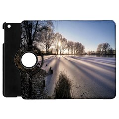 Winter Lake Cold Wintry Frozen Apple Ipad Mini Flip 360 Case by Celenk