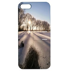 Winter Lake Cold Wintry Frozen Apple Iphone 5 Hardshell Case With Stand by Celenk