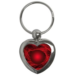 Abstract Scrawl Doodle Mess Key Chains (heart)