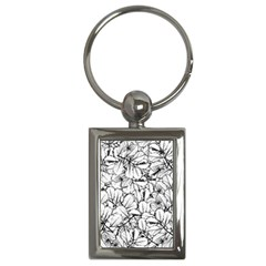White Leaves Key Chains (rectangle)  by SimplyColor