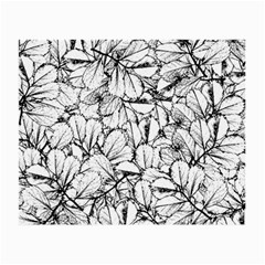 White Leaves Small Glasses Cloth (2 Side) by SimplyColor