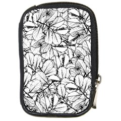 White Leaves Compact Camera Cases by SimplyColor