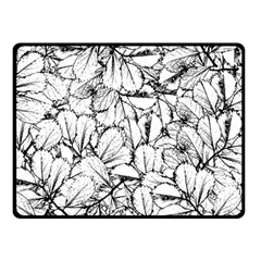 White Leaves Fleece Blanket (small) by SimplyColor