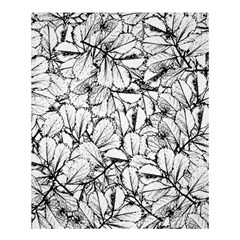 White Leaves Shower Curtain 60  X 72  (medium)  by SimplyColor