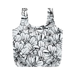 White Leaves Full Print Recycle Bags (m)  by SimplyColor