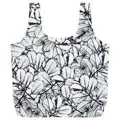 White Leaves Full Print Recycle Bags (l)  by SimplyColor