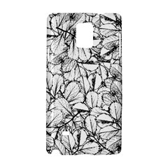 White Leaves Samsung Galaxy Note 4 Hardshell Case by SimplyColor