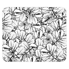 White Leaves Double Sided Flano Blanket (small)  by SimplyColor