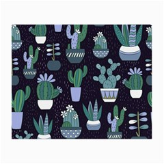 Cactus Pattern Small Glasses Cloth by AllThingsEveryone