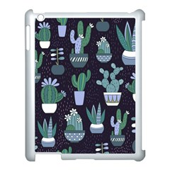 Cactus Pattern Apple Ipad 3/4 Case (white) by AllThingsEveryone