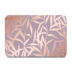 Rose Gold, Asian,leaf,pattern,bamboo Trees, Beauty, Pink,metallic,feminine,elegant,chic,modern,wedding Plate Mats by 8fugoso