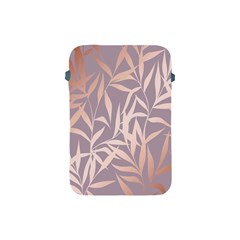 Rose Gold, Asian,leaf,pattern,bamboo Trees, Beauty, Pink,metallic,feminine,elegant,chic,modern,wedding Apple Ipad Mini Protective Soft Cases by 8fugoso