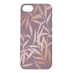 Rose Gold, Asian,leaf,pattern,bamboo Trees, Beauty, Pink,metallic,feminine,elegant,chic,modern,wedding Apple Iphone 5s/ Se Hardshell Case by 8fugoso
