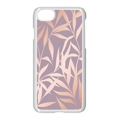 Rose Gold, Asian,leaf,pattern,bamboo Trees, Beauty, Pink,metallic,feminine,elegant,chic,modern,wedding Apple Iphone 7 Seamless Case (white) by 8fugoso