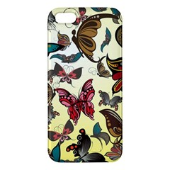 Colorful Butterflies Apple Iphone 5 Premium Hardshell Case by allthingseveryone