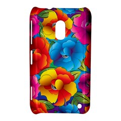 Neon Colored Floral Pattern Nokia Lumia 620 by allthingseveryone