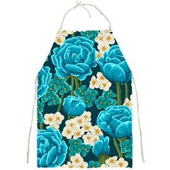 Light Blue Roses And Daisys Full Print Aprons by allthingseveryone