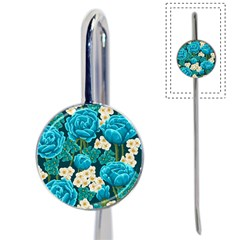 Light Blue Roses And Daisys Book Mark by allthingseveryone